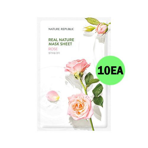 NATURE REPUBLIC Real Nature Mask Sheet Rose 10ea