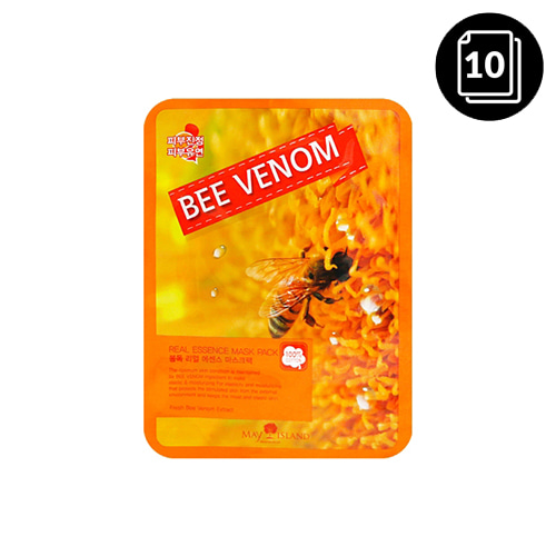 MAY ISLAND Bee Venom Real Essence Mask Pack 10ea