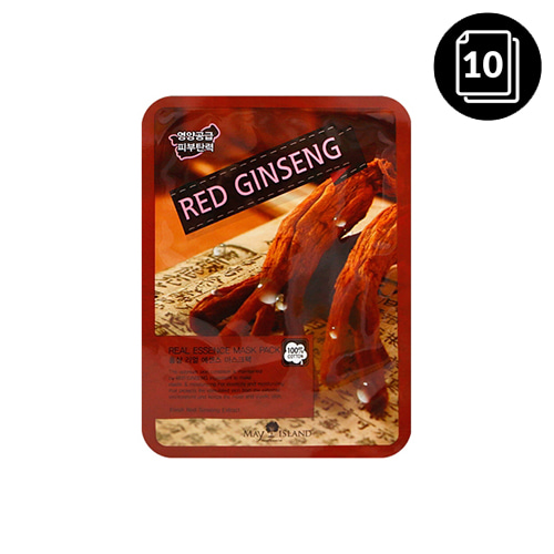 MAY ISLAND Red Ginseng Real Essence Mask Pack 10ea