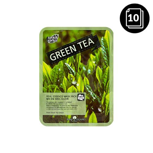 MAY ISLAND Green Tea Real Essence Mask Pack 10ea