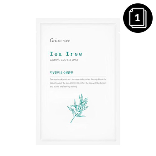Grunersee Tea Tree Calming 5.5 Sheet Mask 25g * 1ea
