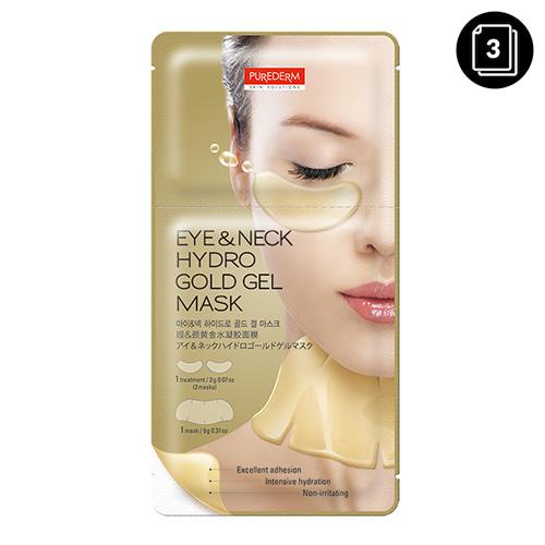 PUREDERM Eye&Neck Hydro Gold Gel Mask 3ea