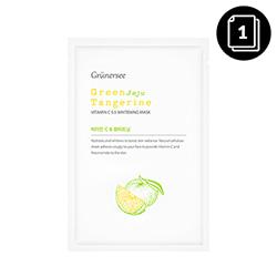 Grunersee Green Jeju Tangerine Vitamin C 5.5 Whitening Mask 25g * 1ea