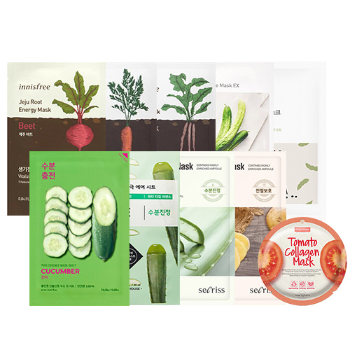 Mask Sheet Trial Kit (Vegetable)