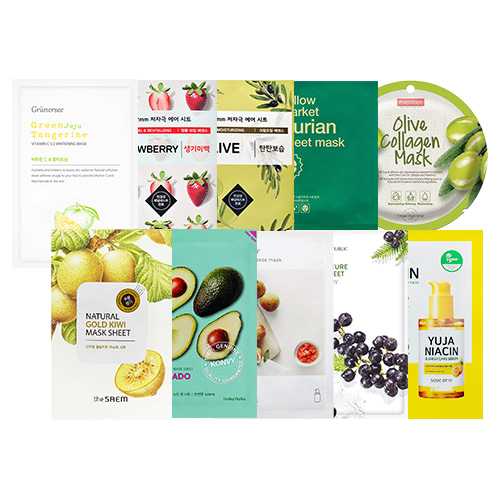 Mask Sheet Trial Kit (Fruit)
