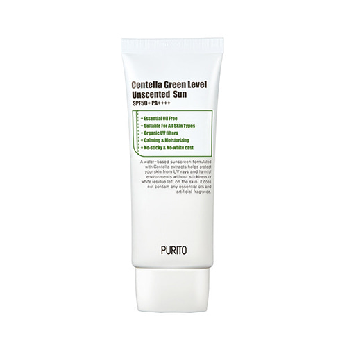 [TIME DEAL] PURITO Centella Green Level Unscented Sun SPF50+ PA++++ 60ml