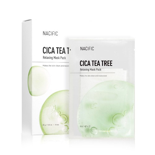NACIFIC Cica Teatree Relaxing Mask Pack 10ea