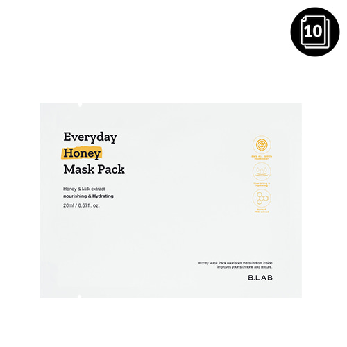 B_LAB Everyday Honey Mask Pack 10ea