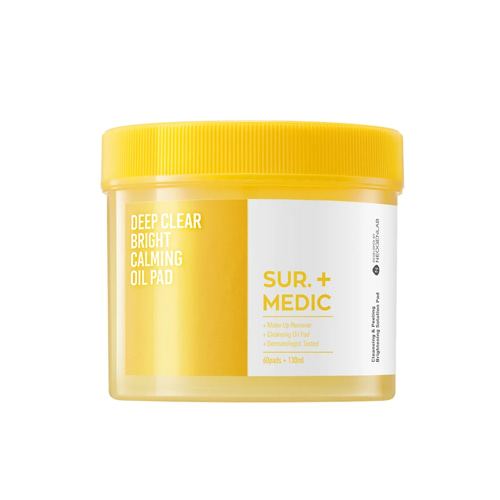 SUR.MEDIC+ Deep Clear Bright Calming Oil Pad 60ea