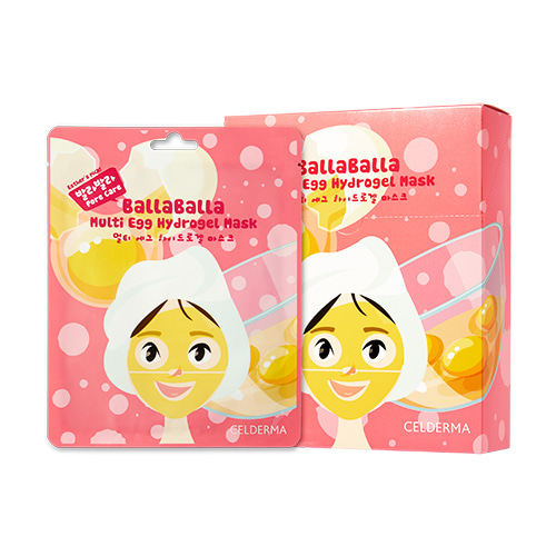 CELDERMA daily Balla Balla Multi Egg Hydrogel Mask 24g * 10ea