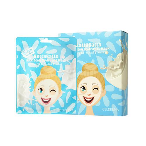 CELDERMA daily Balla Balla Milk Glow Hydrogel Mask 24g * 10ea