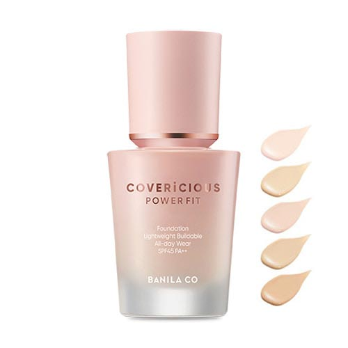 banila co. Covericious Power Fit Foundation SPF45 PA++ 30ml