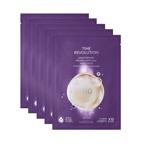 [TIME DEAL] MISSHA Time Revolution Night Repair Ampoule Sheet Mask 5X 5ea