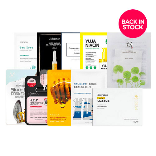 Mask Sheet Trial Kit (Smash your skin concerns)