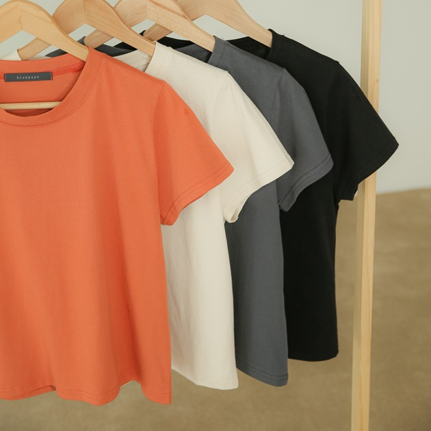 탑오브 아웃핏 미들 티셔츠TS5254ONLY BLUEPOPS