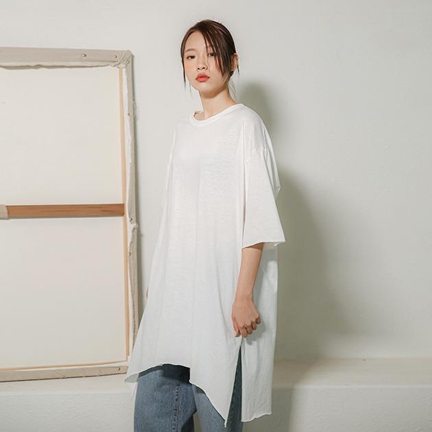 델만 롱 컷팅 티셔츠TS5266