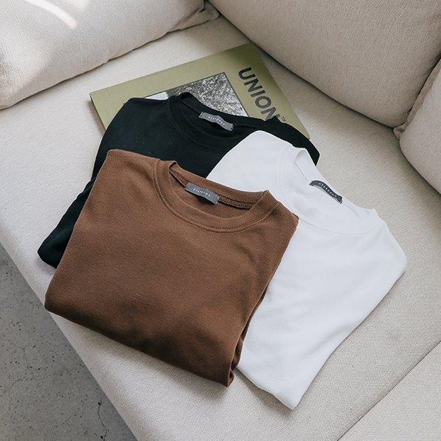 (도톰VER) 탑오브 아웃핏 미들 티셔츠 TS5424 ONLY BLUEPOPS