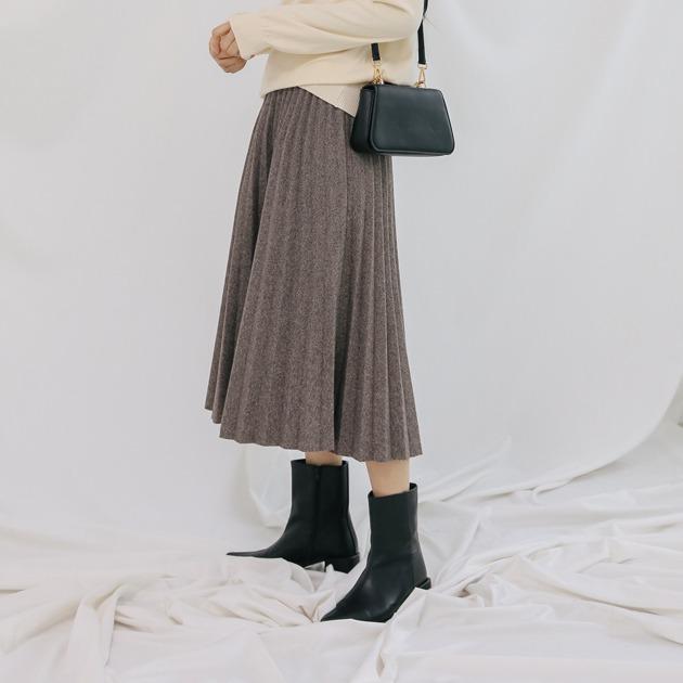 ヘリンボーンプリーツポイントスカート