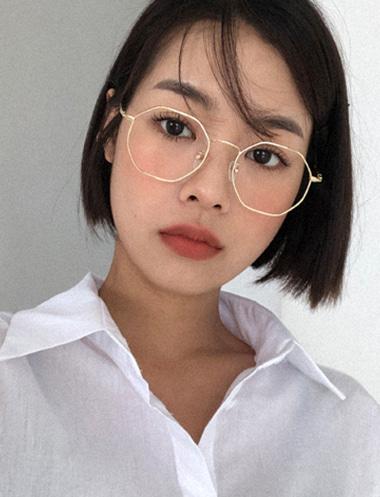 ヴィンテージ六角形メガネ