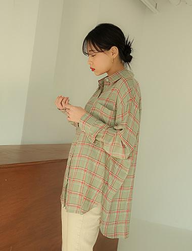 루펜 내추럴 무드체크 셔츠BL3683