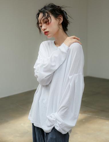 지엘느 핀턱 포인 티셔츠TS5192