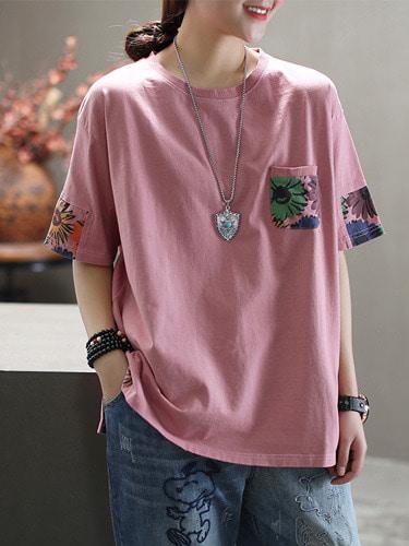 카미 루즈핏 티셔츠