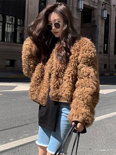 엘프 양털 자켓 명품스타일 코트