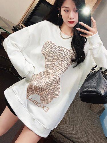 엑셀런트 오버핏 여성 맨투맨 티셔츠