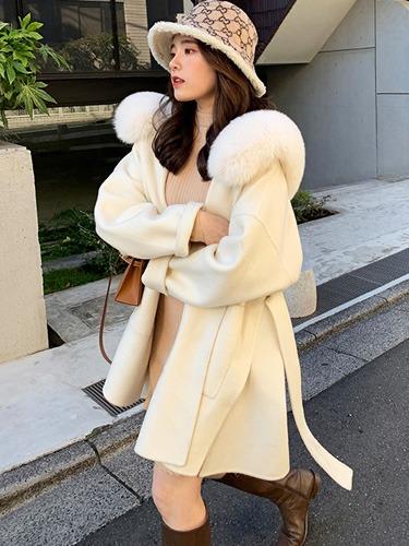 여자 캐시미어 알파카 코트,나비올라