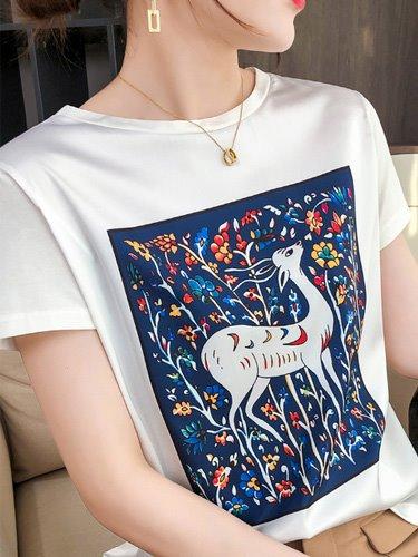 실크 티셔츠
