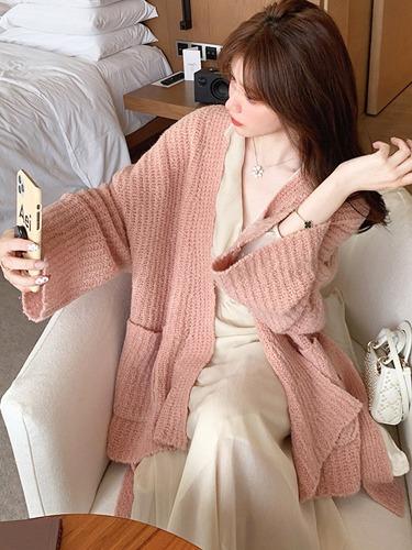 여리한 양모 울 파스텔 톤 갯마을 신민아 패션 옷 st 니트 가디건
