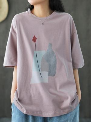 물병 큰사이즈 티셔츠