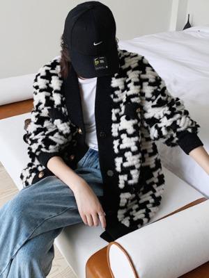 하운드투스 코펜하겐 여자 밍크 코트 명품스타일