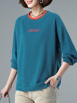 레이어드 라운드카라 맨투맨티셔츠