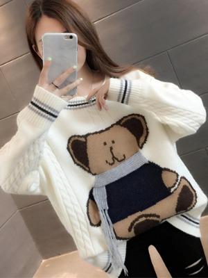 귀여운곰 풀오버 여성 니트 스웨터