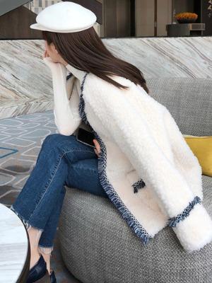 여자 양털 후리스 자켓