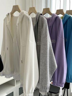 간절기 여성 후드티셔츠