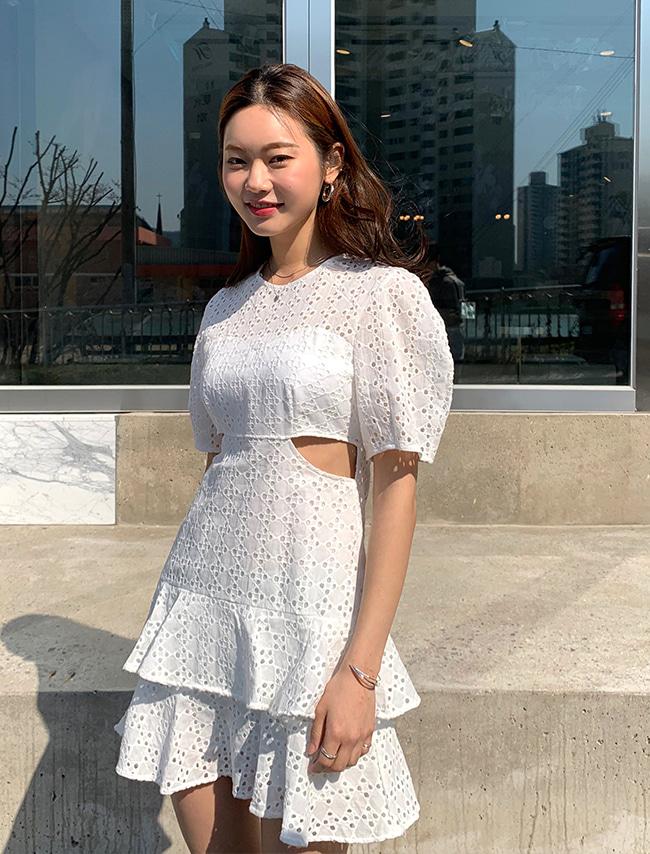 Cutout Eyelet Lace Dress