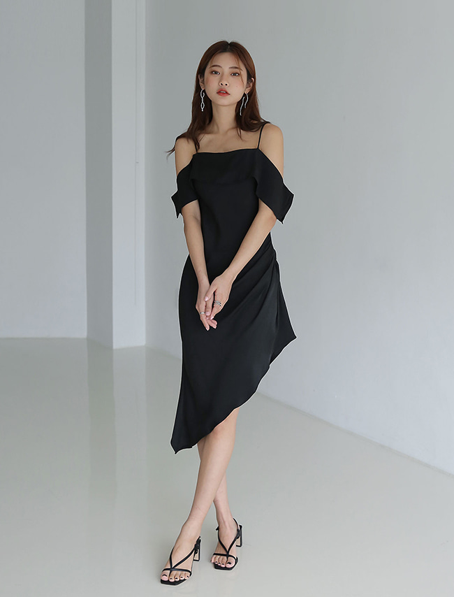 Asymmetrical Off-Shoulder Dress