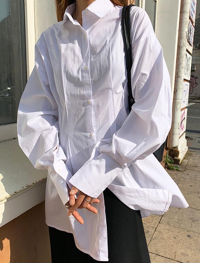 Puff Sleeve Pleated Shirt Dress