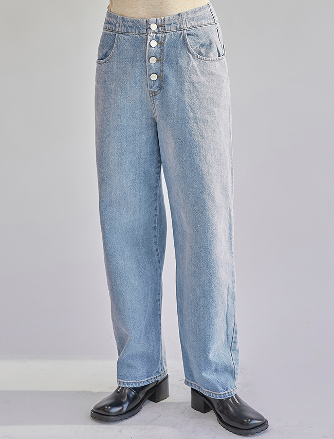 Button Fly Baggy Jeans
