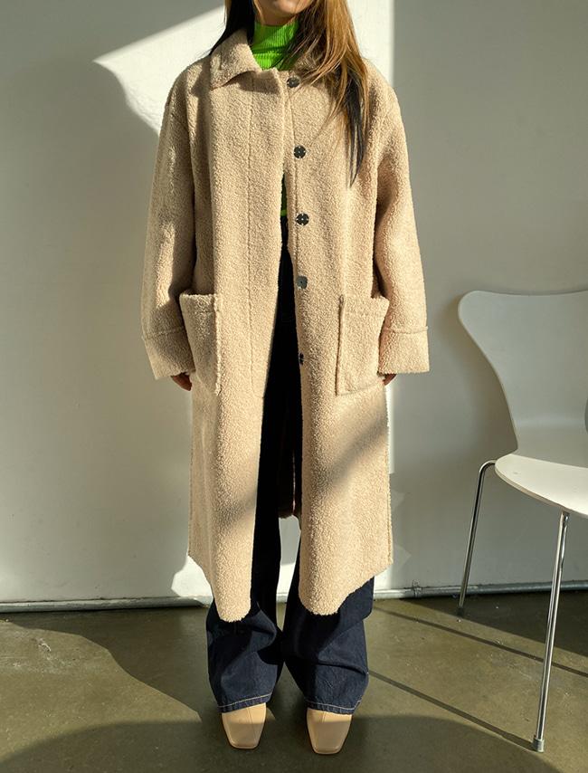 Sherpa Fleece Button-Up Coat