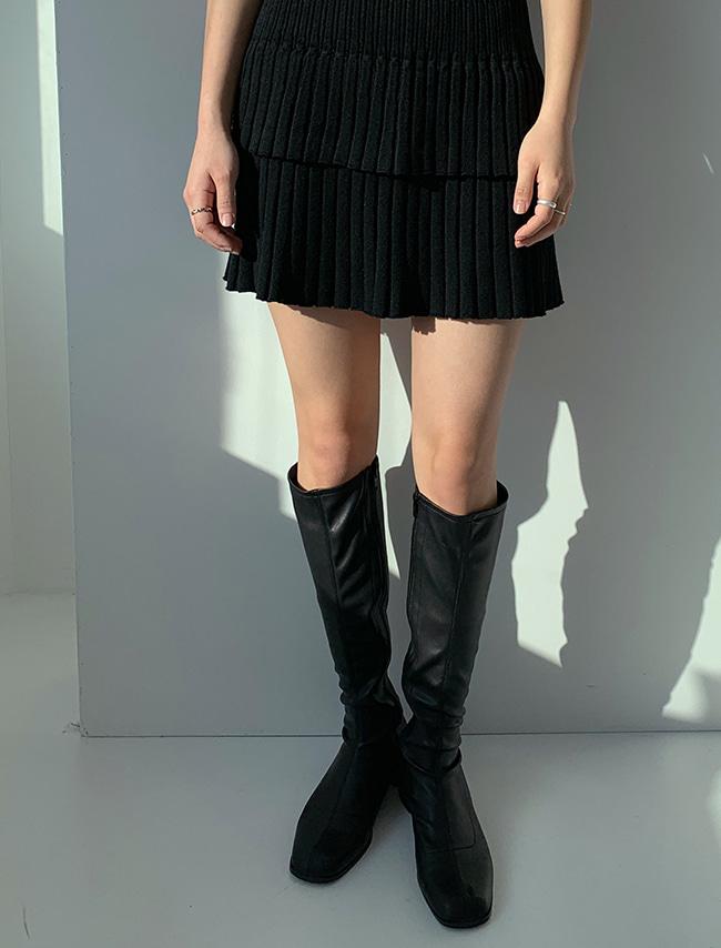 Side Zip Block Heel Tall Boots