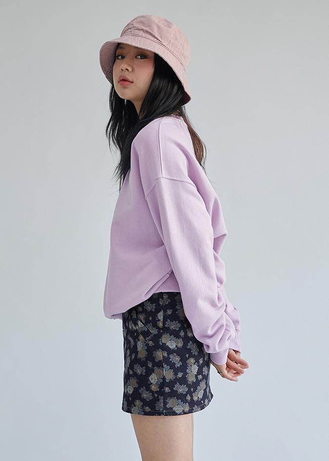 Basic Solid Tone Loose Fit Sweatshirt