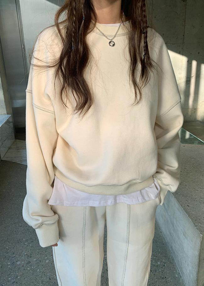 Contrast Stitch Detail Sweatshirt