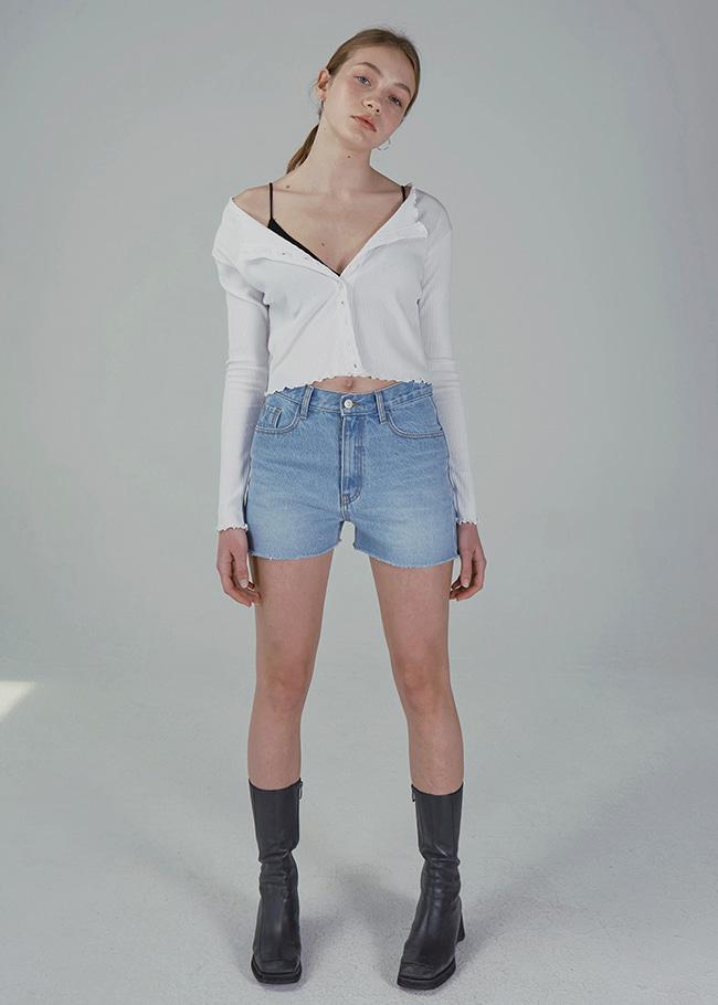 Raw Hems Denim Shorts