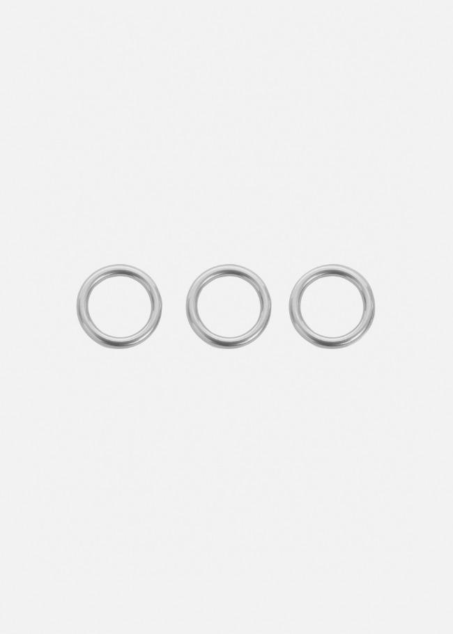 Silver-Tone Three-Piece Ring Set