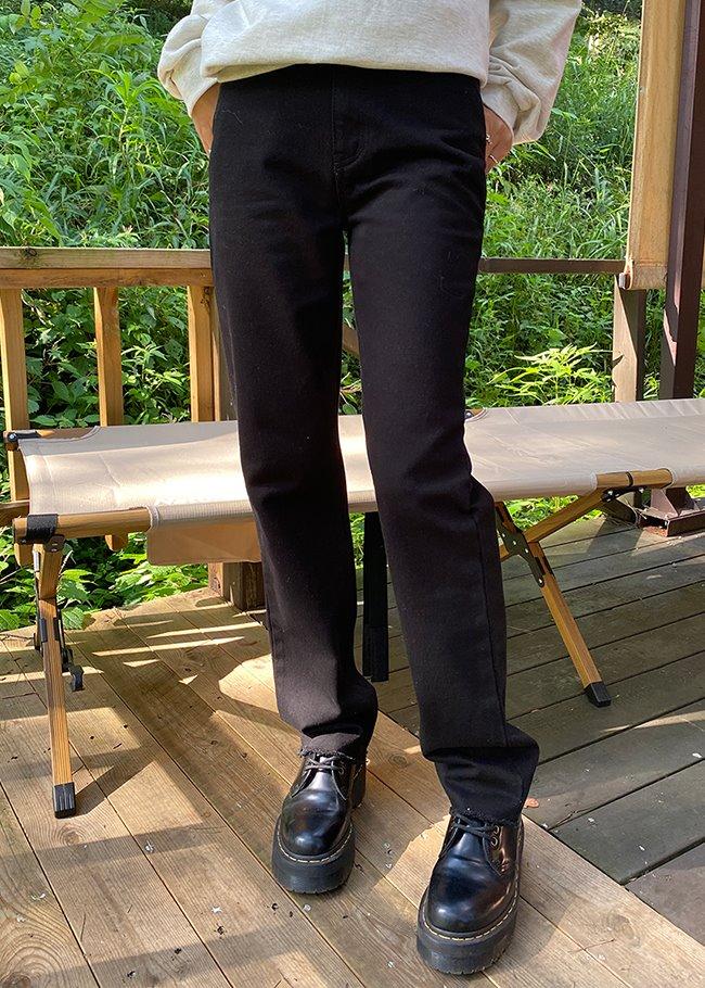 Basic Straight Cut Black Jeans