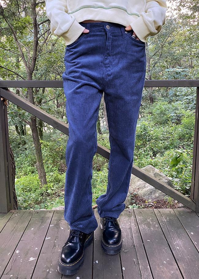 Mid Rise Corduroy Pants
