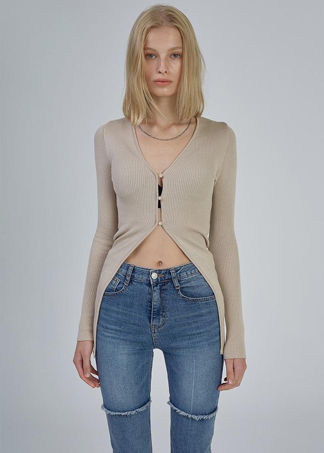 Open Slim Fit Long Cardigan